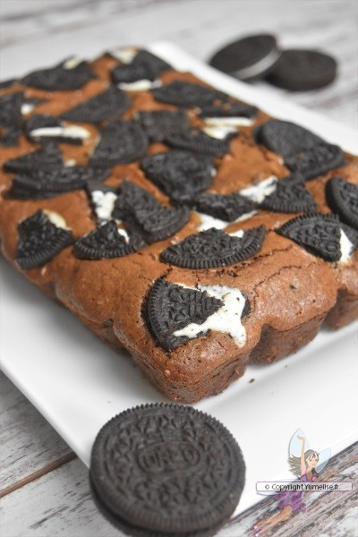 le brownie Oreo cuit