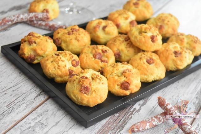 les cookies salés au saucisson sec
