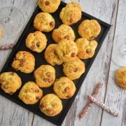 cookies salés au saucisson sec