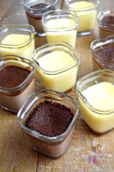 crèmes caramel et chocolat préparées avec la Multi Délices