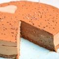 coupe du gâteau croquant chocolat