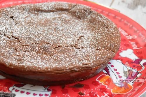 gâteau chocolat et crème