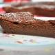 part du gâteau au chocolat à la crème