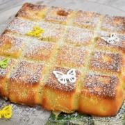 gâteau et flan à la rhubarbe