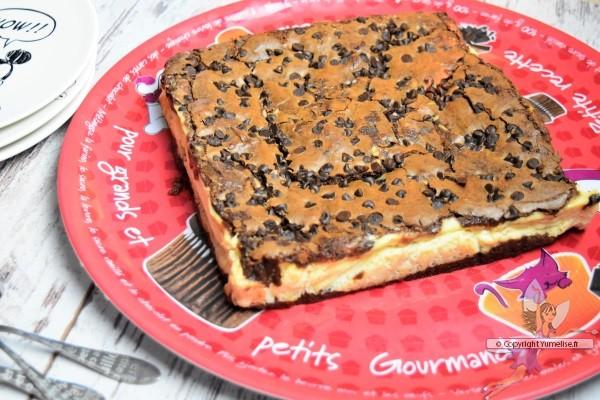 fondant marbré chocolat et fromage blanc