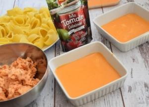 pâtes farcies avec fond de sauce tomate