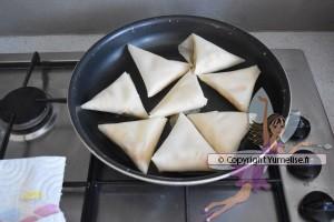 cuisson des samoussas au surimi