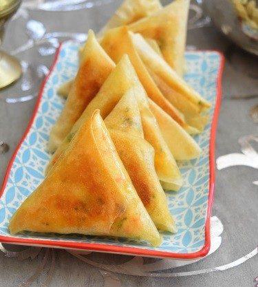 samoussas au surimi cuits