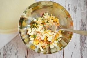 ingrédients de la farce aux samoussas surimi