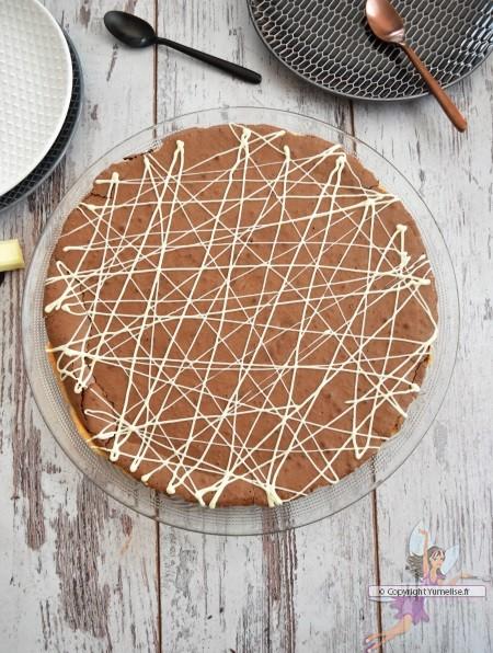 tarte au chocolat et café
