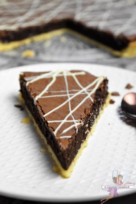 part de tarte chocolat café