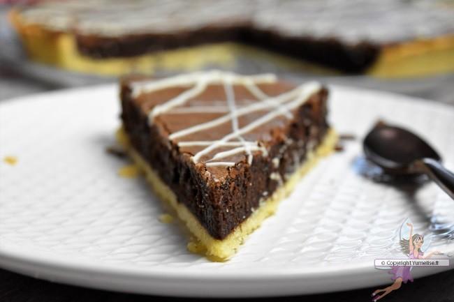 part de la tarte au chocolat café