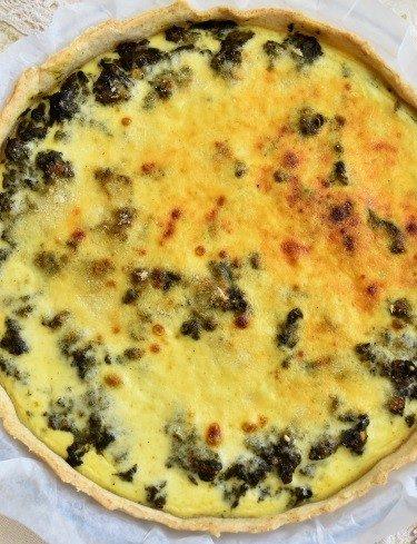 tarte aux épinards et au boeuf haché