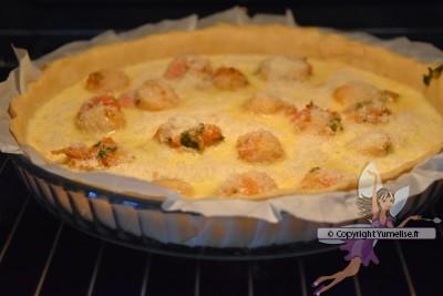 cuisson de la tarte noix de saint jacques
