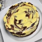 cheesecake aux 2 chocolats marbré