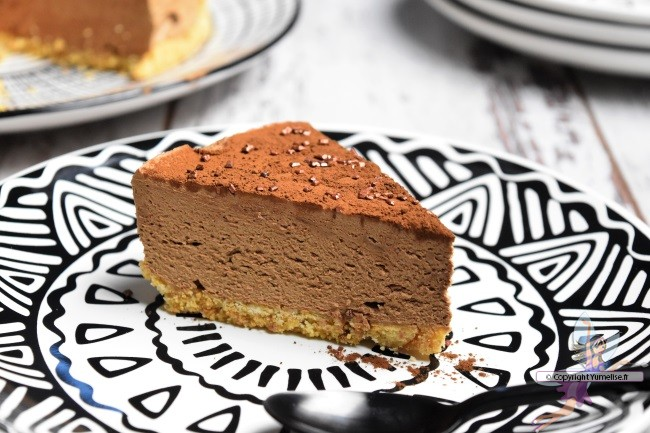 part de cheesecake chocolat sans cuisson