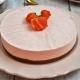 mousse de fraise sur croustillant praliné