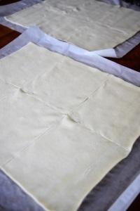 rectangles de pâte pour feuilletes