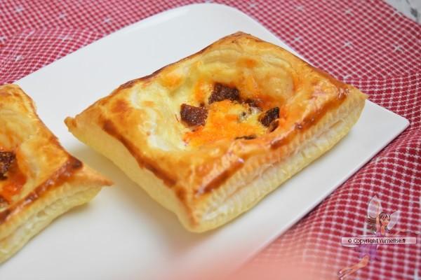 feuilletés dessinés au chorizo et fromage