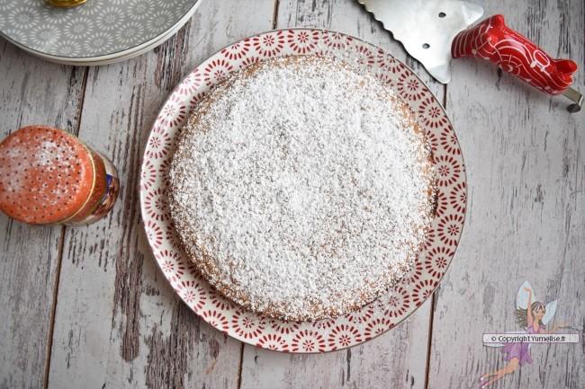 gâteau amande et sucre glace