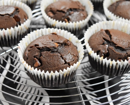 muffins chocolat avec pépites chocolat au lait