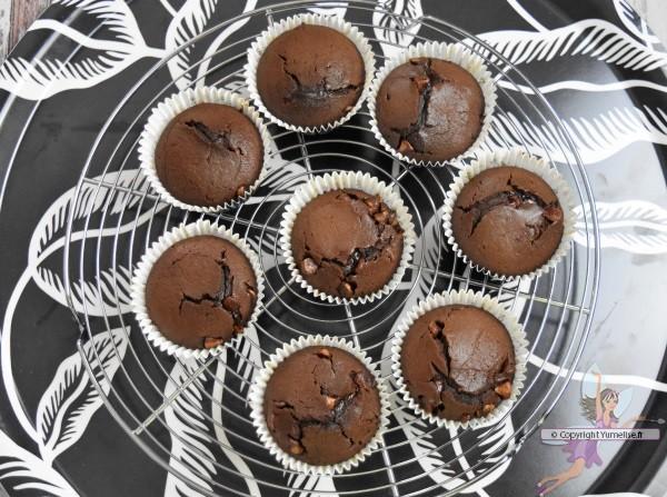 muffins tout chocolat fondants