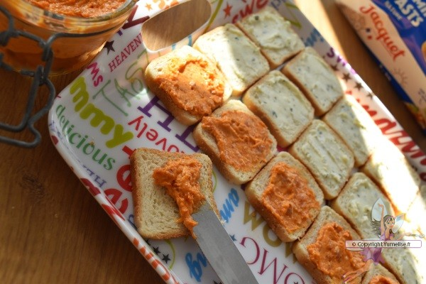 toasts aux rillettes au chorizo