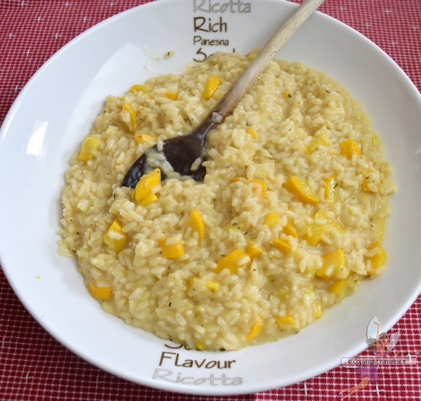 risotto courgette jaune