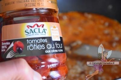 pot de tomates rôties Sacla pour risotto