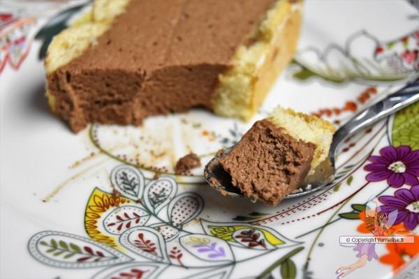 cuillère de terrine au chocolat