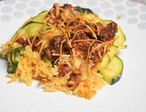 assiette de hachis camarguais