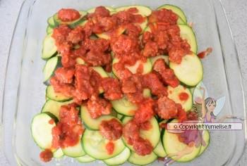 riz, courgette et boeuf-tomate