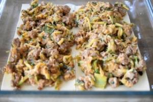 montage des lasagnes courgette