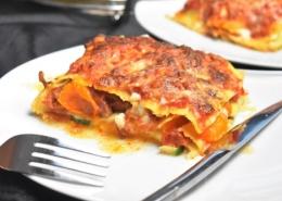 les lasagnes aux légumes et au chorizo