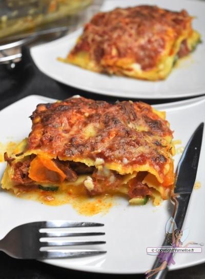 lasagnes légumes et chorizo