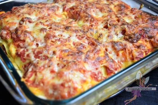 les lasagnes aux légumes cuites