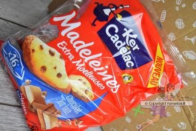 madeleines aux pépites de chocolat au lait Ker Cadélac