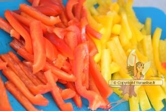 lamelles de poivrons pour piccata