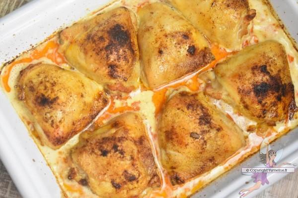 poulet à la crème et citron cuit au four