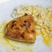 poulet crème citron avec riz pilaf