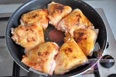hauts de cuisse de poulet dorés
