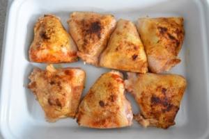 cuisses de poulet dorées
