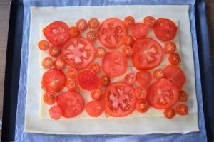 dressage tarte tomates gouda