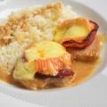 filet mignon gratiné, au Maroilles et chorizo