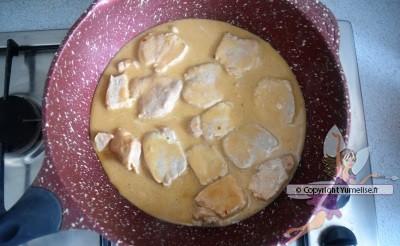 filet mignon sauce crémeuse