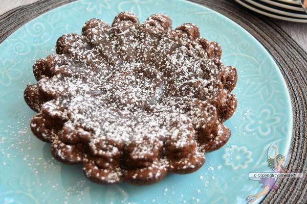 gâteau fondant au café soluble et chocolat