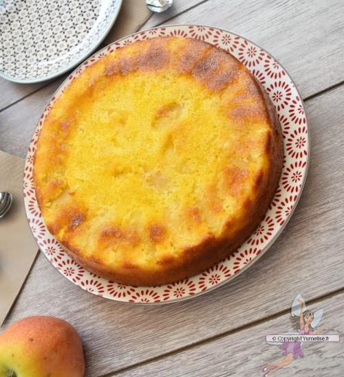 Gateau Yaourt Pommes Et Amande Dessert Moelleux