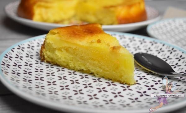 part de gâteau yaourt et pommes
