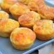 muffins au jambon et au fromage