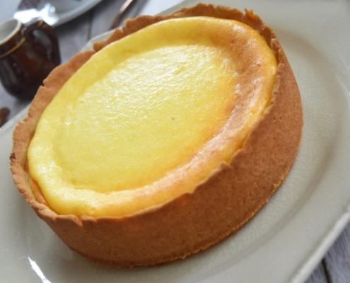 tarte au fromage blanc et pâte sablée